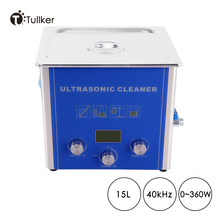 15L Digital Ultrasonic Cleaner Sweeping Frequency Degassing Tank Automatic Metal Part PCB Board Degreasing Ultra Sonic Low Noise