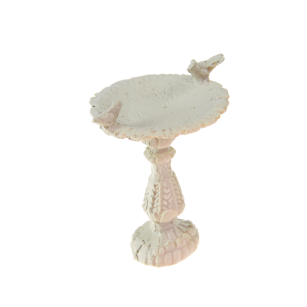 <font><b>1</b></font>:<font><b>12</b></font> Dollhouse Miniature Gray Bird Bath Fountain Fairy Garden Decoration <font><b>Doll</b></font> <font><b>Houses</b></font> <font><b>Accessories</b></font> 6.4 x 6.6cm Home Decor image