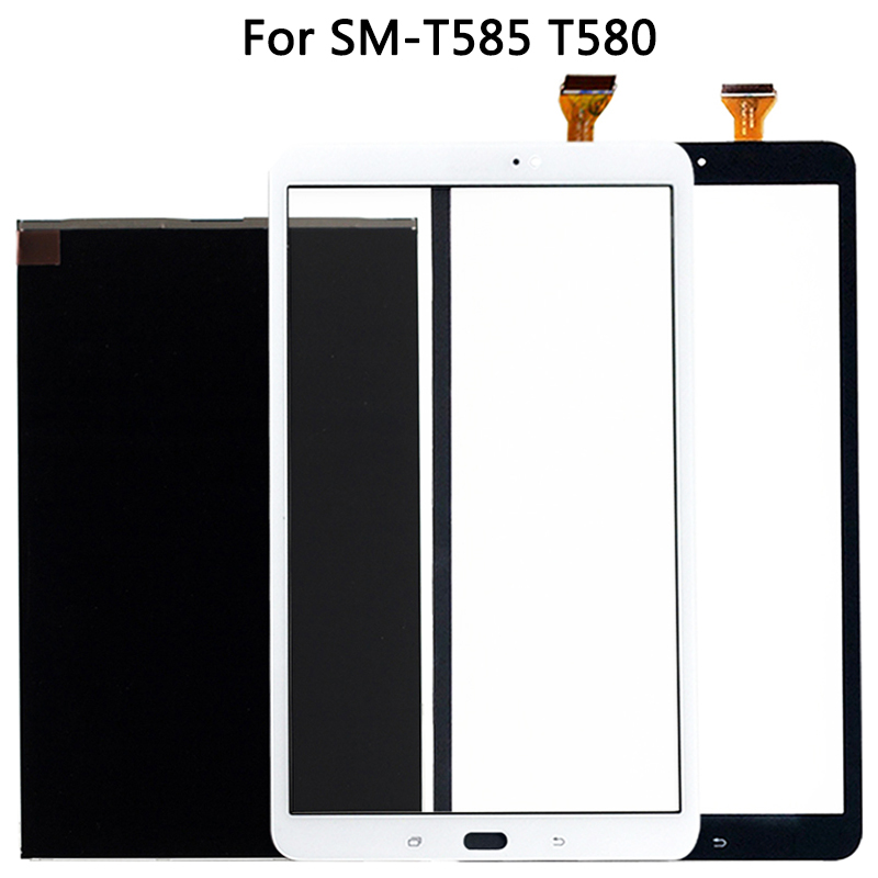 New T580 Touch Screen For Samsung Galaxy Tab A 10.1 SM-T585 T580 Touch Screen Panel Digitizer Sensor LCD Display  Front Glass