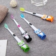 4 цвета детская зубная щетка с героями мультфильмов Мягкая панда форма дети для ухода за зубами щетка инструмент зубные щетки Щетина зубная щетка