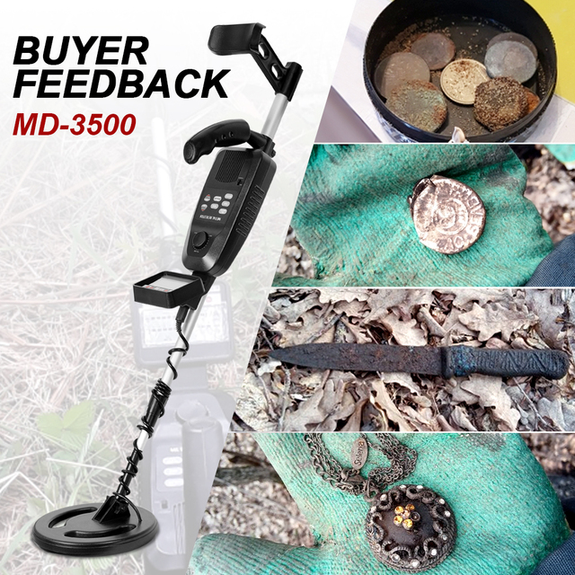 Underground Metal Detector MD-3500 MD3500 Treasure Hunting Detector Metal Search Gold Silver Detector Stud Finder Metaaldetector 1