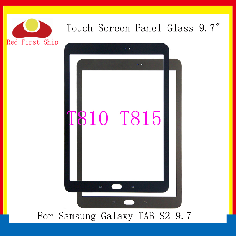 10Pcs/lot For <font><b>Samsung</b></font> Galaxy <font><b>TAB</b></font> <font><b>S2</b></font> 9.7 T810 T815 Touch Screen Panel Glass Lens SM-T810 SM-T815 <font><b>LCD</b></font> Front Outer Replacement image