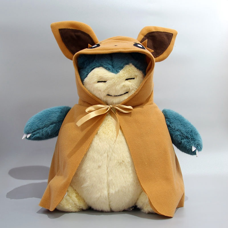 takara-tomy-font-b-pokemon-b-font-30cm-cosplay-pikachu-brown-eevee-cloak-snorlax-animal-plush-stuffed-toys-for-children