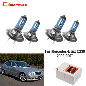 Cawanerl 4 Pieces 100W Car Light Headlight Halogen Lamp For 2002-2007 Mercedes-Benz C230 image