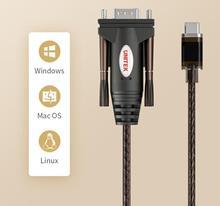 Адаптер типа C к последовательному кабелю, USB3.1 к DB9 RS232 COM, конвертер 1,5 м