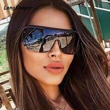 2020 тренд Полуободковые негабаритные Солнцезащитные очки женские