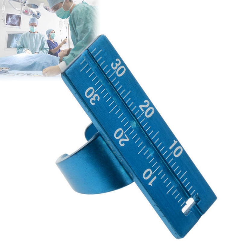 Aluminium Alloy Dental Endo Finger Rulers Span Measure Scale Endodontic Dental Instruments Ring Endo File Ruler