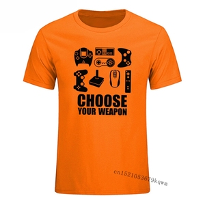 Choose Your Weapon Gamer T Shirt Arcade Video TV Controller Hipster Tumblr Male T Shirt for Men Harajuku Aesthetic Clothes