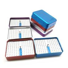 Новинка, держатель для стоматологических инструментов с 120 отверстиями, дезинфекционная коробка для стерилизатора автоклава с линейкой