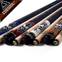 CUESOUL Rockin Series Snooker Billiards Maple 13mm Tip Pool Cue Stick Set With Blue Carrying Cue Bag 57 21oz Billiard Cue