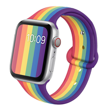 Strap For apple watch band 44mm 40mm correa 42mm 38mm silicone iwatch band Pride Edition bracelet for apple watch 6 5 4 se 3 2 1
