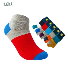 Korean version of the new spring and autumn pairs of men 's pure cotton socks color men tide socks embroidery men sockswholesale new socks men s tube socks trend cotton version of europe and the united states tide socks horizontal bar personality tide socks