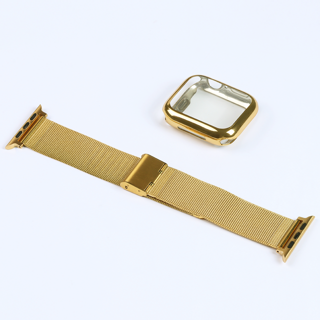 Milanese Watch Band + Case For Apple Watch Series 6 SE 5 4 40mm 44mm 38mm 42mm Stainless Steel Strap Wrist Bracelet for iwatch 4