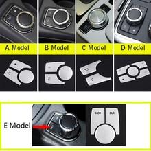 For Mercedes BenzA B C E CLA GLA ML GL GLK Class W176 W246 W204 W212 C117 X156 Aluminum Car Multimedia button Trim Cover Sticker
