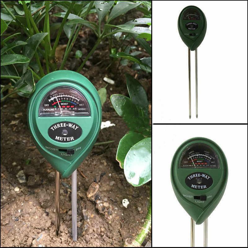 Cyfrowy tester 3 in1 wilgotności gleby światło słoneczne tester miernika ph dla roślin kwiaty kwasowości do pomiaru wilgotności narzędzie ogrodowe