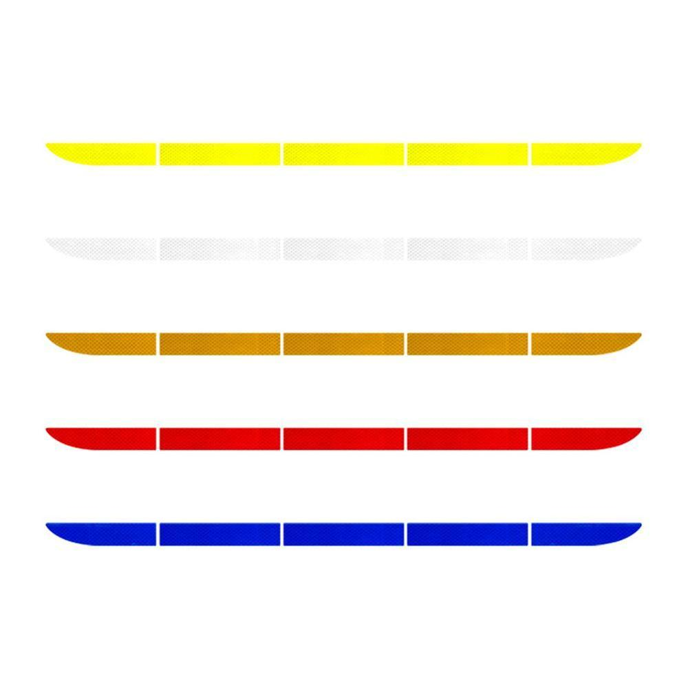 Warning Strip Reflect Tape Traceless Protective Car Reflective Tape Stickers Exterior Car Sticker Trunk Body Auto Accessories