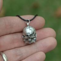 50pcs Retro Skull Skeleton Choker Pendant Pirate Skeleton Necklace Gothic Punk Jewelry