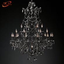 19th C. Rococo Iron & Crystal Chandelier Lighting Modern Retro LED Chandeliers Pendant Lamp Hanging Light
