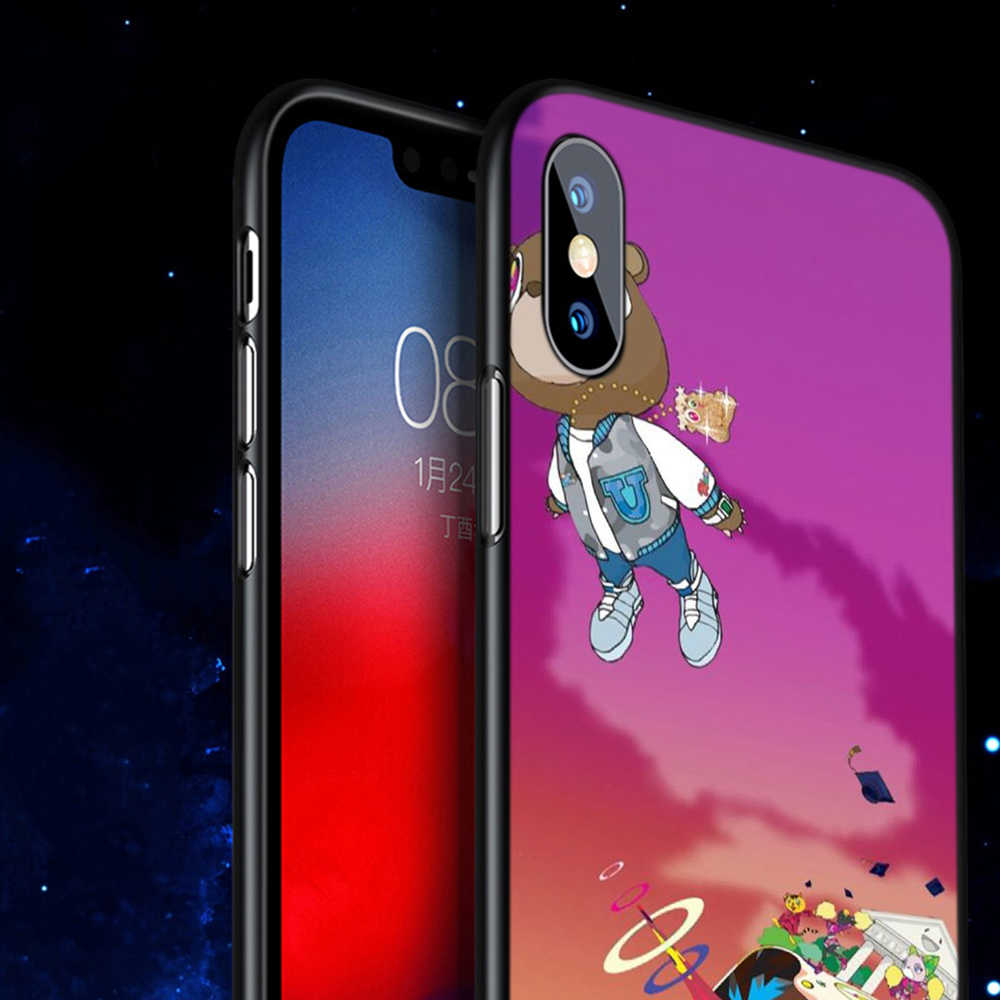 Q10 kanye west TPU obudowa telefonu dla Apple iPhone 6 6S 7 8 Plus 5 5S SE X XS 11 Pro MAX XR silikonowe miękkie etui