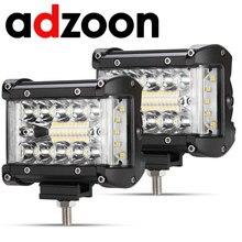 ADZOON 4 Cal 90W Combo listwy świecące Led Spot Flood Beam 4x4 Spot 12V 24V 4WD Barra LED reflektor dla Auto łodzie SUV ATV iLight
