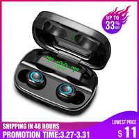 S11 tws 3500 mah power bank fone de ouvido led bluetooth 5.0 fones de ouvido sem fio de alta fidelidade estéreo fones de jogos com microfone