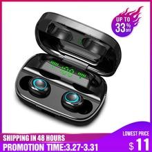 TWS наушники S11 с зарядным устройством на 3500 мА · ч и светодиодной подсветкой, Bluetooth 5,0, Hi Fi стереонаушники, игровая гарнитура с микрофоном