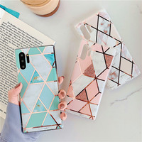 galaxy note Marble Phone Case For Samsung Galaxy A10 A20 A30 A50 A70 case Geometric Glossy For Samsung Galaxy S10 plus S10E Note 10 case (2)