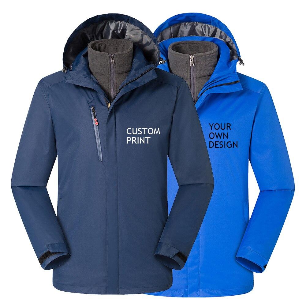 Мужская верхняя одежда с принтом на заказ, водонепроницаемая куртка, спортивное теплое Брендовое пальто, высокое качество, для походов, кем...