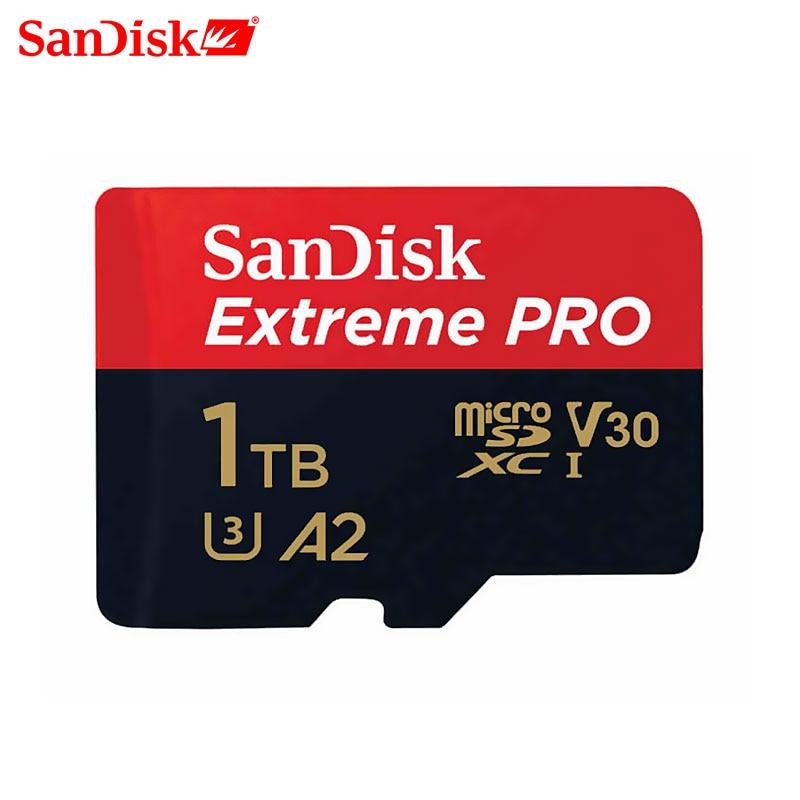 SanDisk Extreme Pro Micro Sd 64GB 128GB 1TB Memory Card  Class 10 Cartao De Memoria U3 A2 V30 1TB Tf Flash Card For Gopro