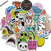 50pcs VSCO Girl Simple Cartoon Cute Kawaii Sticker Children Toy Stickers Waterproof DIY Portable Bicycle Helmet Car