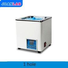 JOANLAB лабораторный цифровой Дисплей термостатическая водяная баня 1 отверстие баня Цифровой Постоянная температура воды бак электрический котел для водяной бани