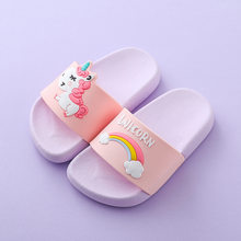 Mini Melissa Unicorn Boys Girls Slippers 2019 Sandals Children Jelly Sandals Kids Sandal Girls Jelly Shoes Melissa Flip Flop(China)