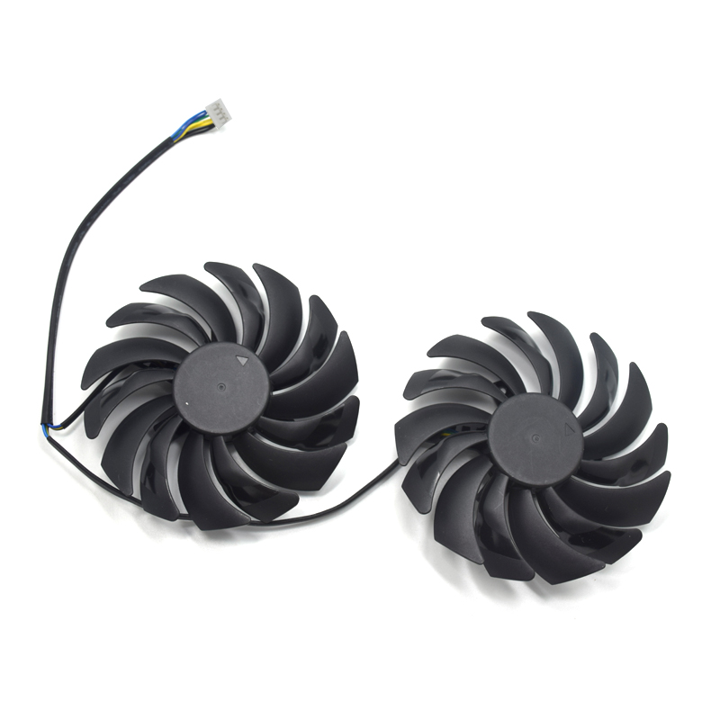 2PCS 95MM PLD10010S12HH DC12V 0.40A 4PIN For MSI GTX 1080Ti 1080 1070 1060 RX 470 480 570 580 GAMING Graphics Card Cooler Fans image