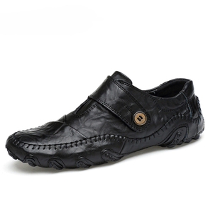 Image 1 - Moda estilo britânico dos homens sapatos casuais mocassins couro genuíno dos homens sapatos de couro ao ar livre sapatos de inverno zapatos hombre