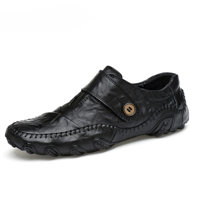 Moda estilo britânico dos homens sapatos casuais mocassins couro genuíno dos homens sapatos de couro ao ar livre sapatos de inverno zapatos hombre