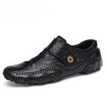 ファッション英国スタイル男性カジュアルシューズ本革メンズ靴屋外革靴の男性の冬の靴zapatos hombre