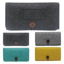 Bolsa de almacenamiento de fieltro para consola de juegos funda protectora a prueba de golpes soporte para 4 tarjetas de memoria bolsa de transporte para Nintendo Switch Lite consola