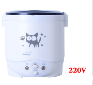 1L Electric Mini Rice Cooker MultiCookers Portable Rice Cooker With Household 220V Car 12V Truck 24V Multi cooking Lunch Box