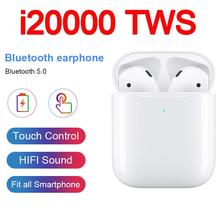 i20000 TWS In ear Wireless Earphone 8D Super Bass Headset 1536U TOP Chip PK i500 i500tws i60 i800 i1000 i2000 tws Air2
