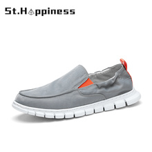2021 Summer New Men's Canvas Boat Shoes Breathable Casual Driving Shoes Fashion Soft Slip-On Vacation Loafers Free Shipping