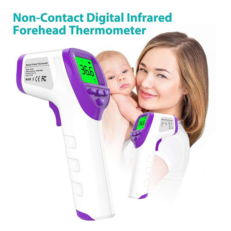 Infrared Thermometer Non Contact Temperature Gun Laser Handheld IR Temp Gun Colorful LCD Display Adults Baby Thermometer