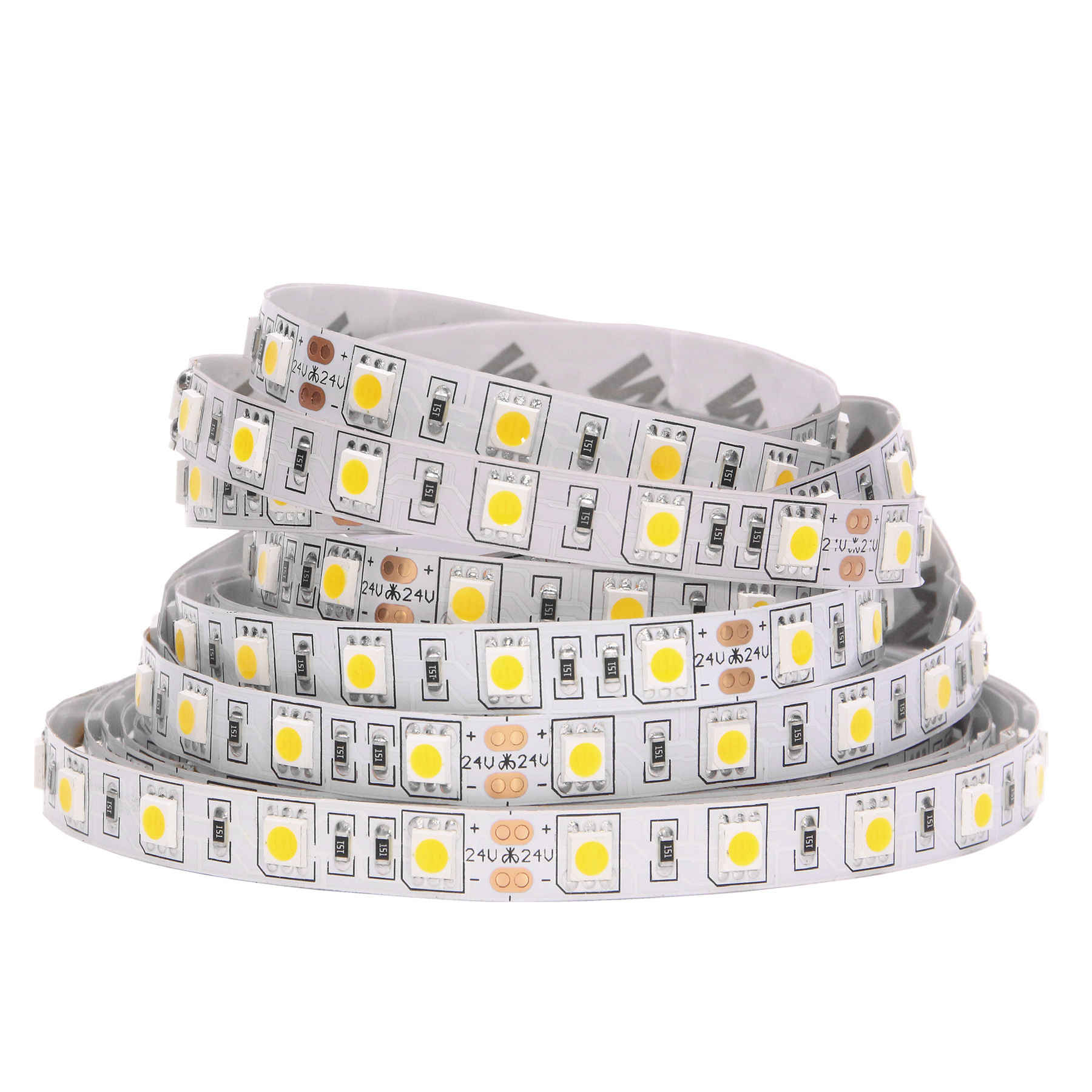SMD 5050 RGB LED Strip Tahan Air 5M 300LED DC 12V RGBW Rgbww Fita Lampu LED Strip Fleksibel Neon tape Luz Monokrom