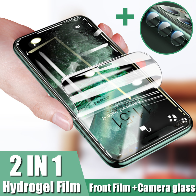 Camera Lens Glass For IPhone 11 Pro Xs Max Xr X Screen Protector Front Hydrogel Film For IPhone 7 6 8 Plus Soft Film