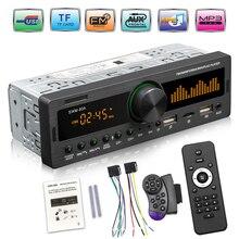 1Din Car Radio Multimedia Bluetooth Handsfree MP3 Player FM AM Audio 12V USB/SD/AUX Input In Dash Locator Auto Stereo Head Unit