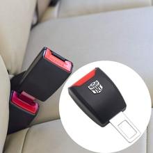цена на Car Safety Belt EXtender Clip Buckle Car Safety Belt  With Car LOGO Extender Buckle Lock For Auto Seat belt Safety Extender