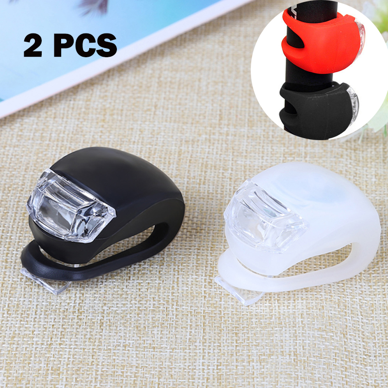 2 Pcs LED Mountian Bike 4 Modes Waterproof Front Rear Flash Lights Set Push Cycle Light Clip Bicycle Accessories Bike Lamp