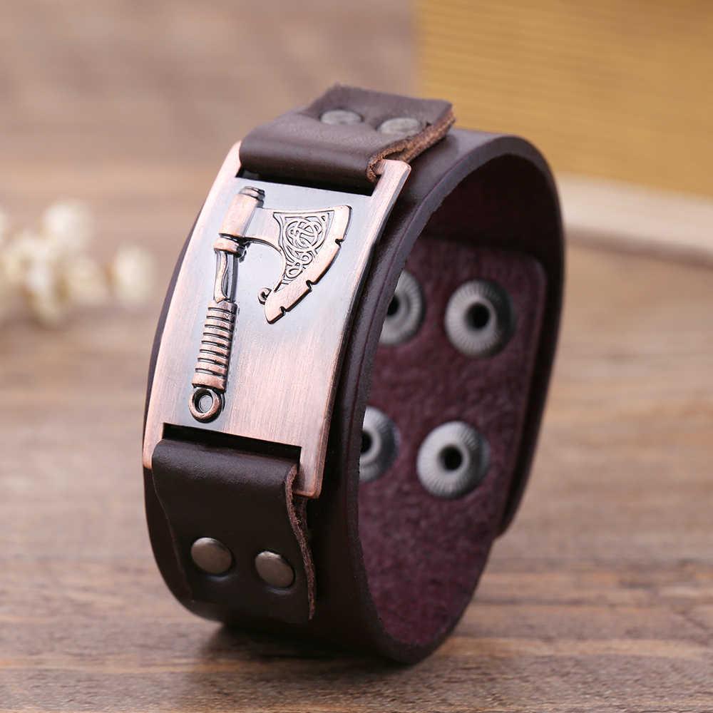 Skyrim славянский топор perun металлические изделия, соединитель талисманы кожаный браслет для мужчин опал Викинг ювелирные изделия обертывание браслет