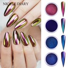 0,2 г/кор. зеркало-хамелеон, лазерные блестки для ногтей, порошки, эффект Auroras, дизайн ногтей, хромированный пигмент, пыль, сделай сам, дизайн, украшение