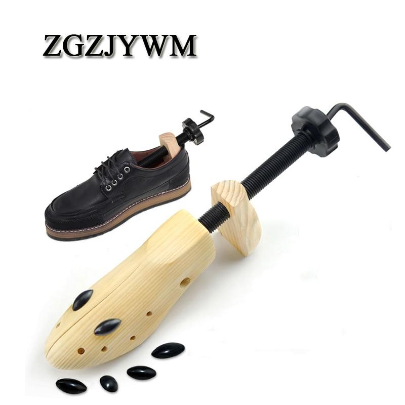 ZGZJYW Shoe Stretcher Wooden Shoes Tree Shaper Rack,Wood Adjustable Flats Pumps Boots Expander Trees Size S/M/L Man Women