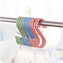 Creative Multi-Purpose S-Shape Hook Plastic Hanger Clothes S-Shaped Bathroom Nailless